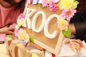 KOCブース!装飾は各団体が工夫を凝らして行っています!