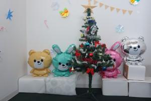 クリスマスツリーとバルーン